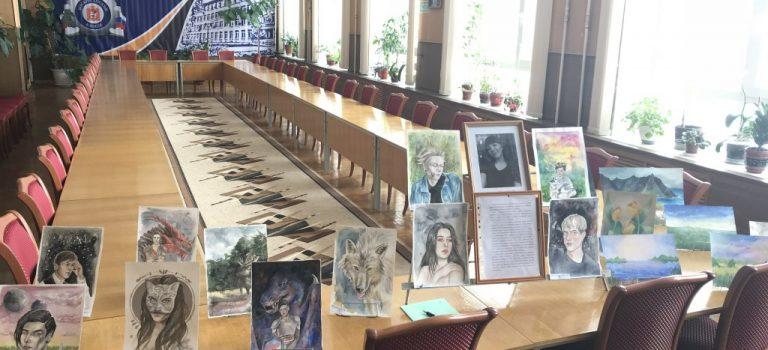 Выставка работ студентки 3-го курса Агафоновой Карины