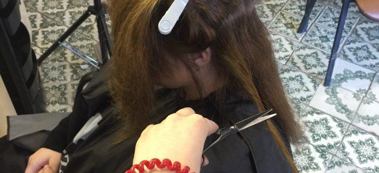 Практическое занятие на тему: «Удаление посеченных кончиков, расслоенных волос по всей длине»  «Путевка в жизнь» — группа Парикмахер