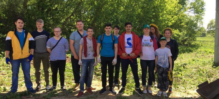 В рамках акции «Мы за чистый город» студенты всех подразделений приняли участие