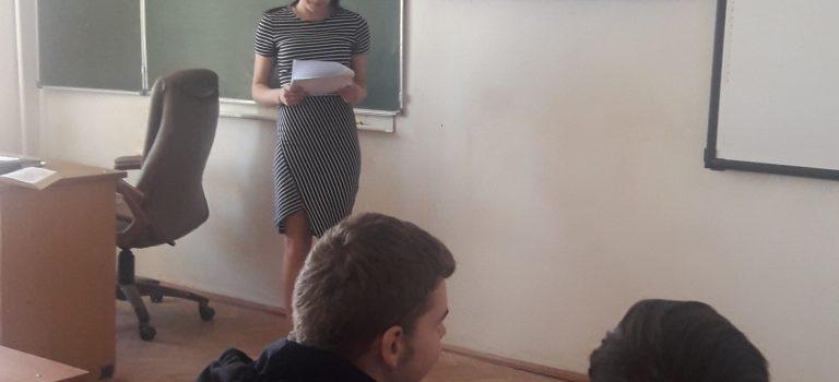 На базе ОСП №1 прошел открытый Урок Парламентаризма для студентов первых курсов