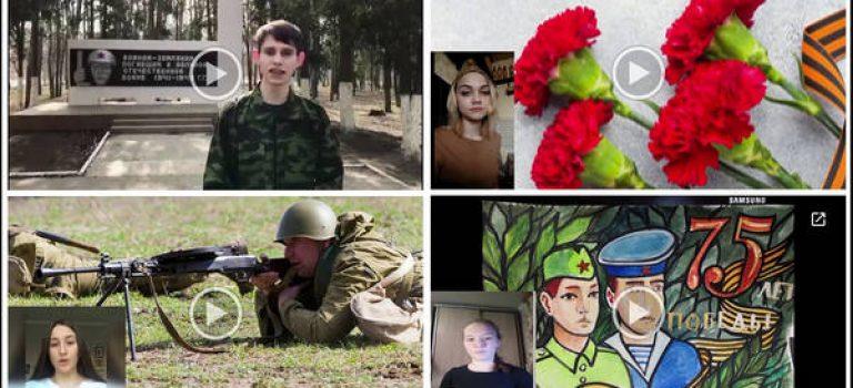 Студенты колледжа читают стихи о Великой Отечественной войне.
